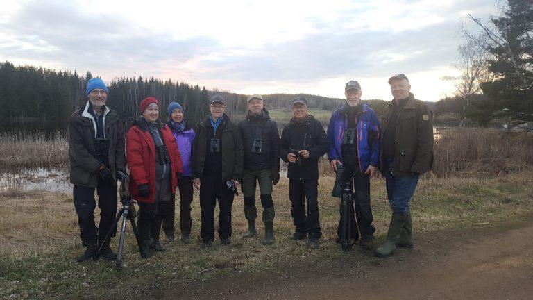 Kvällsexkursion till Backa våtmark 2 maj 2018